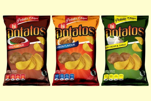 potatos snack packaging